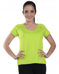 Short Sleeve Yogi Tee With Shelf Bra